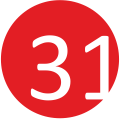 31 piros-fehér