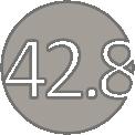 42.8 ezüst