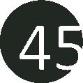 45 fekete-fehér
