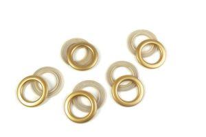 Inel tip capsă cu închizător aur mat