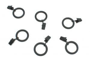 Ring with clips black