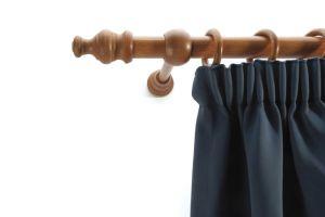 Laminated wooden curtain pole set cherry