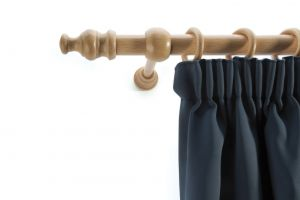 Laminated wooden curtain pole set pine