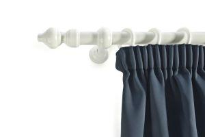 Curtain pole set white