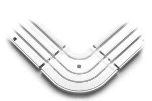 Zunanji kotni element 3 tirni bela