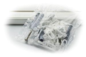 Tartozékcsomag egypályás 120-180 cm fehér