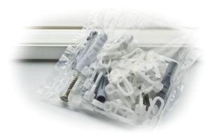 Tartozékcsomag egypályás 210-300 cm fehér