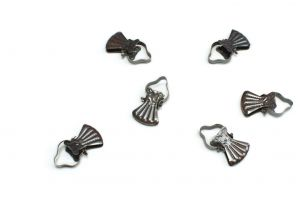 Classic metal clips for wooden curtain rod bronze
