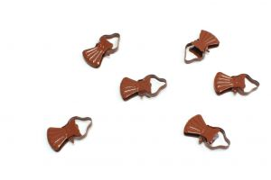 Classic metal clips for wooden curtain rod cherry