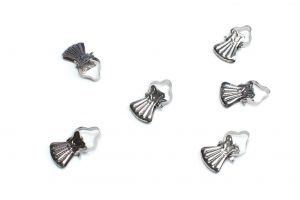 Classic metal clips for wooden curtain rod silver