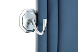 Tieback hook Octogon chrome matte